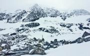Taschachferner bei Schneefall