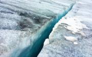 Taschachferner - kleine Gletscherspalte